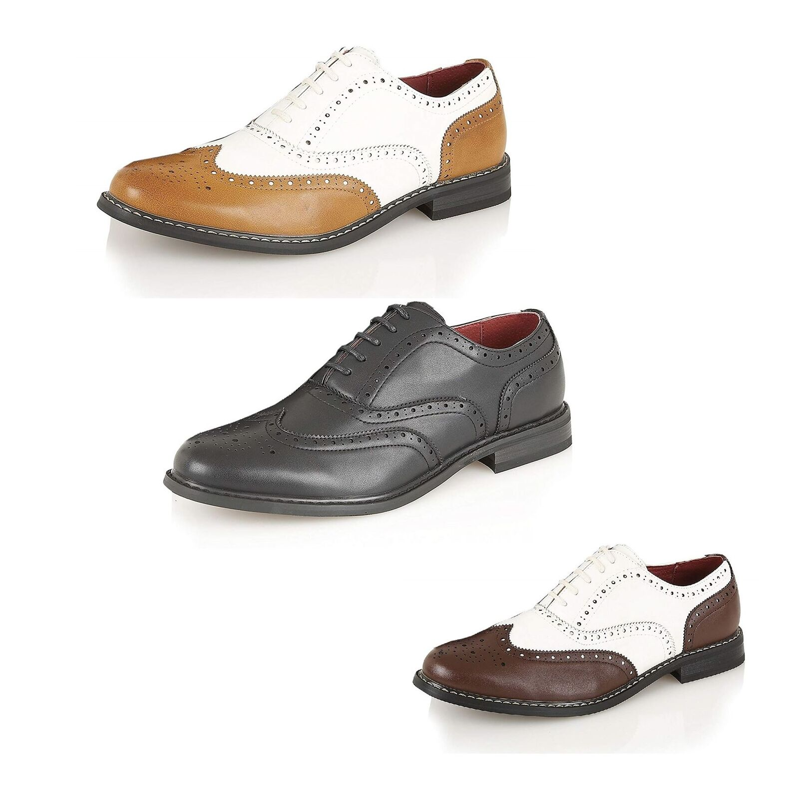 Men's Classic Leather Lined Brogue shoes Formal Office Casual Boys shoes