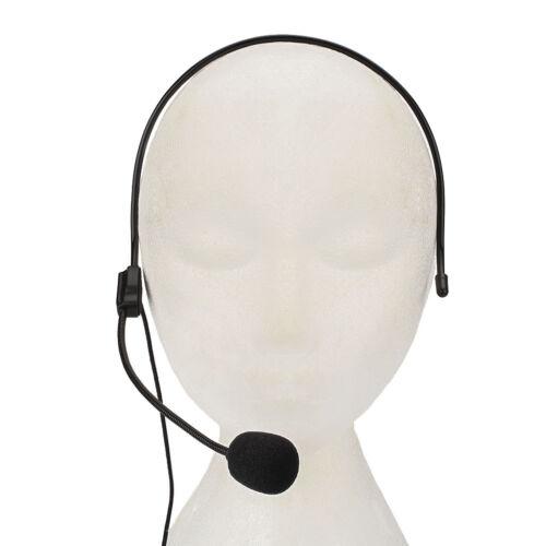 3.5mm Vocal Headset Headworn Microphone For Voice Amplifier Speaker Loudspeaker.