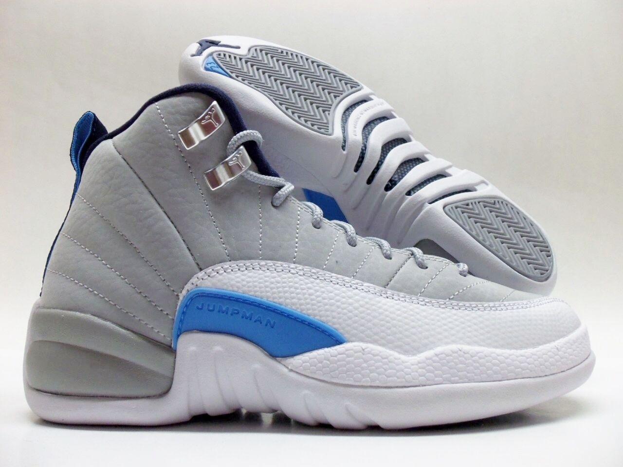 Nike air jordan 12 xii lupo grigio / bianco retrò bg dimensioni / donne 5 [153265-007]