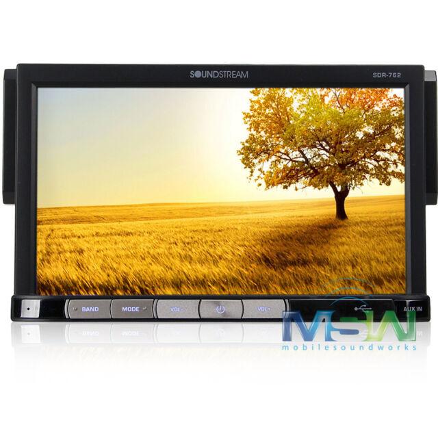 "SOUNDSTREAM SDR-762 In-DASH 1-DIN CAR DIGITIAL MEDIA RECEIVER w/ 7"" LCD SDR762"