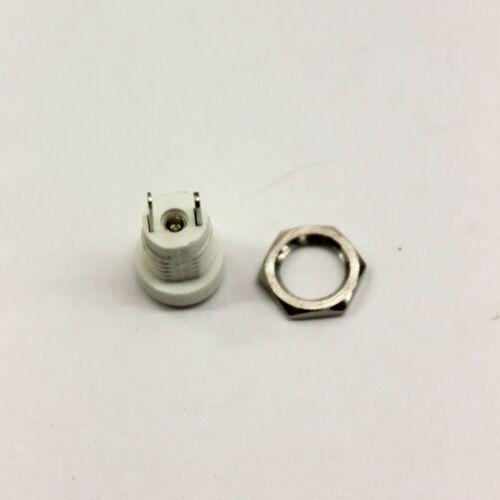Plugz2go 2.1mm X 5.5mm Panel Gehäuse Halterung Dc Buchse Weiß