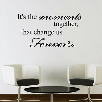 It's the Moments together Quote Wall Sticker Wall Decal Words Letters Decor
