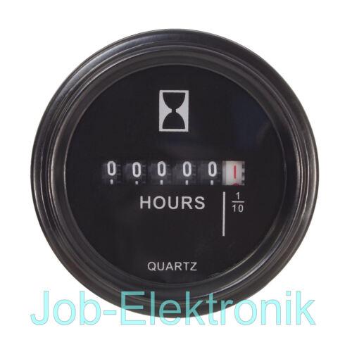 Installation heures de fonctionnement compteur 10-85v//dc heures Compteur Compteur Noir 12v 24v