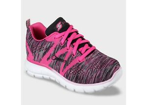 NWT-S-SPORT-BY-SKECHERS-Girls-Pink-Knit-Adalie-Performance-Athletic-Shoes