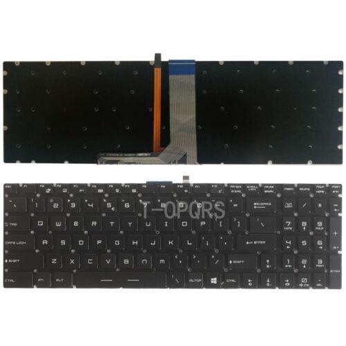 New MSI MS-1781 MS-1782 MS-1783 MS-1785 MS-1795 keyboard White backlit US Black
