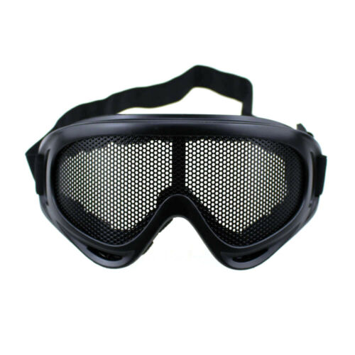 Tactical Metal Mesh Lens Goggle Sports Safety Glasses Protection Eyewear