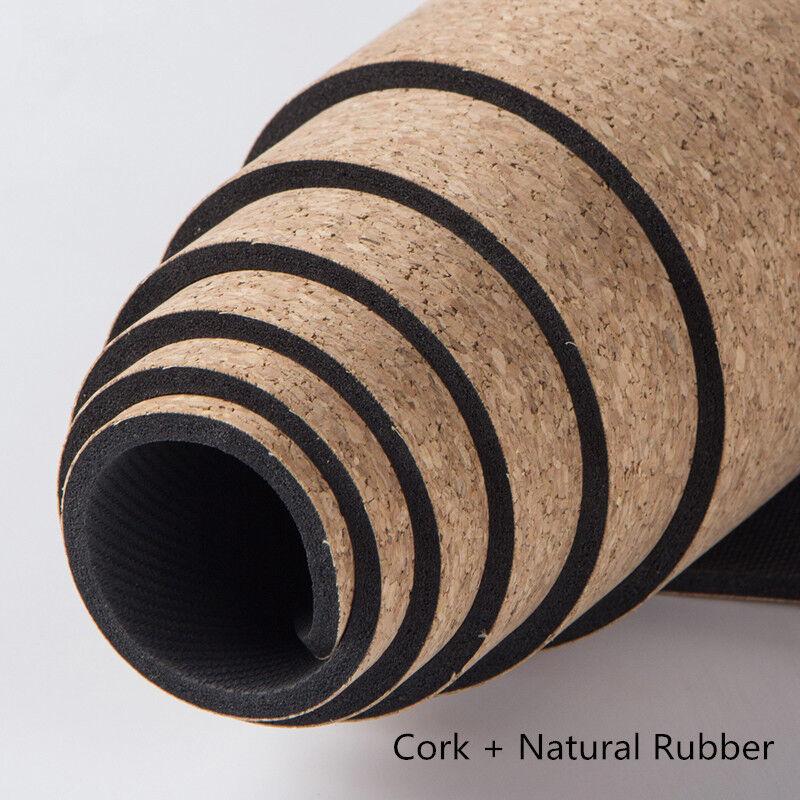 Cork Natural Yoga Mat Non Slip And Rubber Thick Eco Platinum Sun Exercise damen