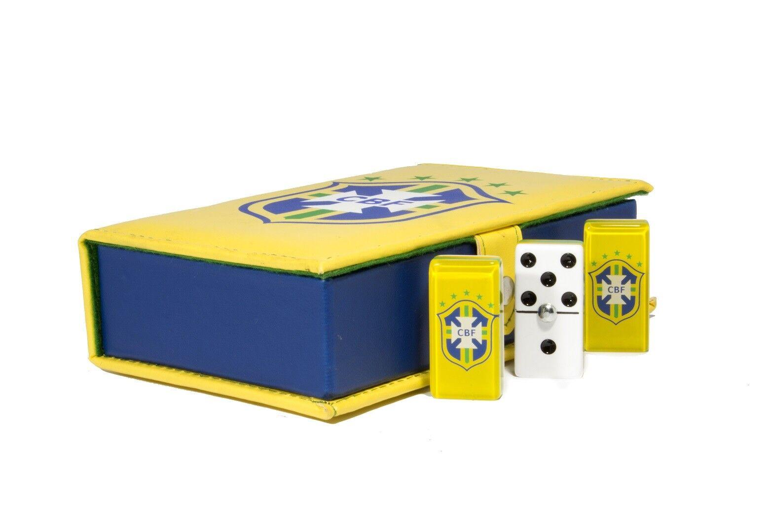 Soccer Brazil Domino 100% Acrylic, Faux Pelle Case