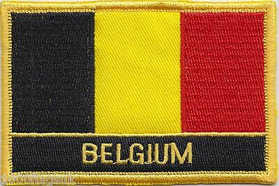 Brussels Belgium Flag Embroidered Patch Badge