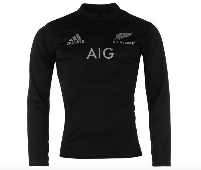 Adidas All schwarzs Neuseeland langarm langarm langarm Rugby Trikot Schwarz alle Größen Neu f775ca