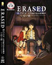 DVD Japan Anime BOKU DAKE GA INAI MACHI (Erased) Complete Series (1-12) ENG Sub