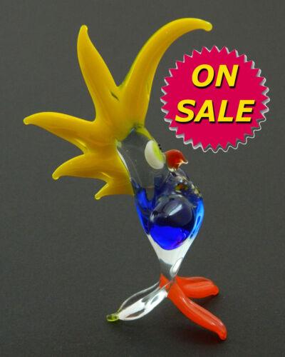 Glass Art Blown Figurine Bird PARROT Murano Style #4739