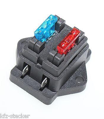 Warnen 2 - 12 Fach Kfz Sicherungshalter Auto Flach Sicherung Halter Dose Box Boot Top Durchsichtig In Sicht
