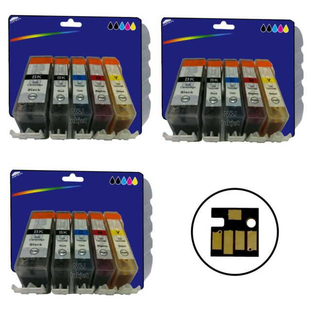 3 Sets of Compatible Printer Ink Cartridges for Canon PGI-525 / CLI-526 Range