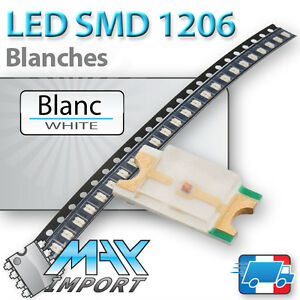 LED-SMD-CMS-1206-Blanches-White-Blanc-Lots-multiples-prix-degressifs