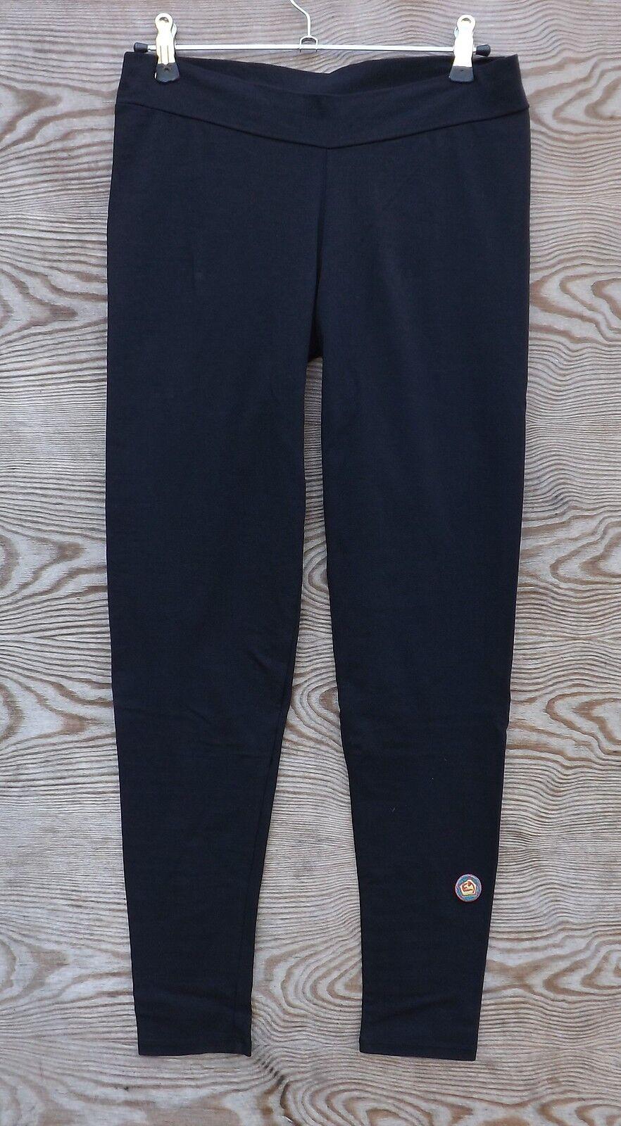 E9 Cucu Mujer Pantalones, Negro, Elástico Pantalones Mujer, Leggings
