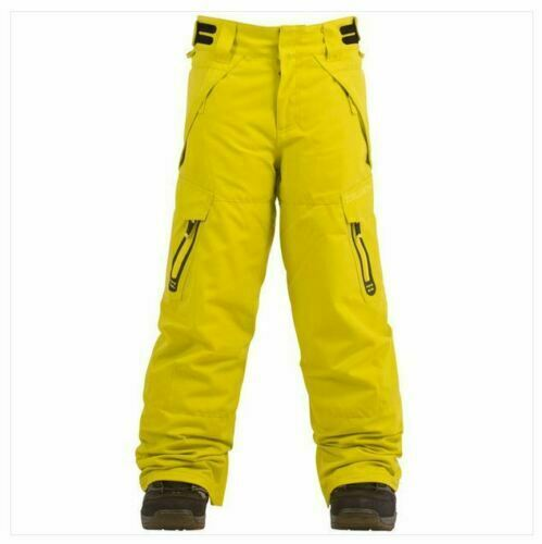 NWT YOUTH BOYS BILLABONG CAB SNOWBOARD PANT citrus cargo pocket size s