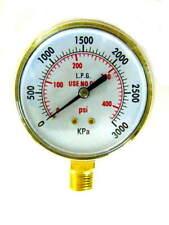 3 Inch Acetylenepropane Regulator Gauge High Pressure 14 18npt