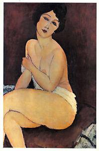 MODIGLIANI-1942-GRAVURE-PRINT-w-COA-BEAUTIFUL-Amedeo-Modigliani-art-RARE-ART