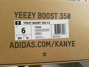 3a8793fca5f6c 100% Authentic Adidas Yeezy Boost 350 V2 Black White (Oreo) US Size ...