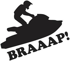 Jetski Pwc Braaap Waverunner Sea Doo Sit Down Vinyl Decal Sticker Ebay