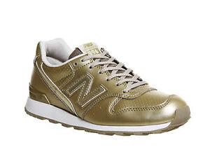 19c172b55fd68 La imagen se está cargando New-balance-para-mujer-oro-996-Mono-Zapatillas-