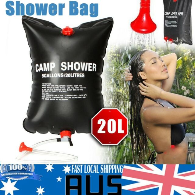Sporting Goods New 40l Solar Shower Bag Solar Heated Water Pipe Outdoor Camping Holiday Aus Camping & Hiking