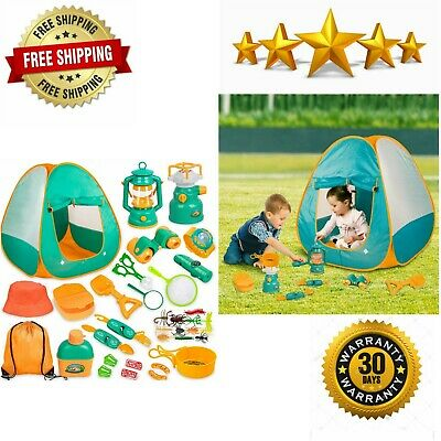 Kids Camping Set With Tent 24pcs Camping Gear Tool Pretend Play Set For Toddlers Ebay