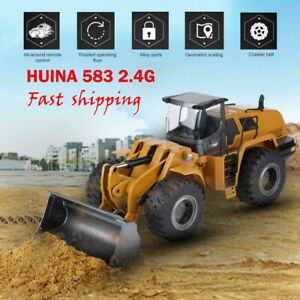 HUINA-583-2-4G-1-14-Electric-Remote-Control-Model-Bulldozer-Engineering-Vehicle