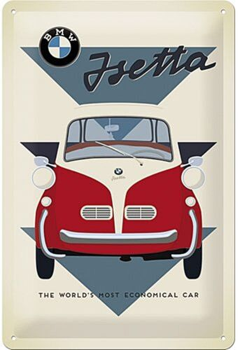 na BMW Isetta World/'s Most Economical.. embossed metal sign  300mm x 200mm