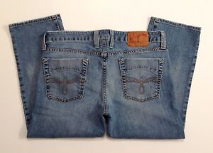 Lucky-Brand-Park-Lola-Straight-Crop-Blue-Jeans-Size-12-31-Crop-W-33-x-L-23-EUC