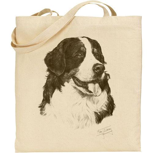 Mike Sibley Oberland Mountain Perro Raza reutilizables de compras de algodón//Bolso de hombro