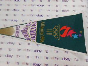 Olympics-1996-Atlanta-Georgia-Vertical-Pennant-Felt-HTF-SUPER-COOL