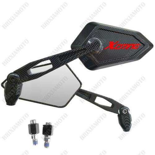 RETROVISEURS STREET CARBON LOOK LOGO ROUGE KYMCO XCITING 125 300 400 500 I R