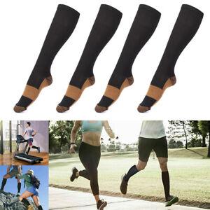 5 Paar Kompressionsstrümpfe Kompressionssocken Socks Schwarz Für Sport Fitness