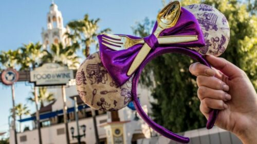 Disney California Adventure Food and Wine 2019 Minnie Ears Headband