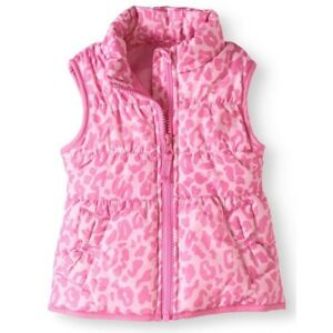 a02fe503b Carter's Girls Pink Animal Print Bubble Puffer Vest NEW Bows 18 Mos ...