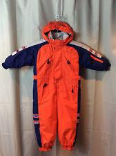 RAWIK KIDS Orange Blue Snowmobile Ski Suit Snowsuit Unisex Boys Girls 3 3T