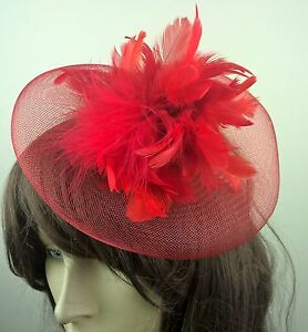 bright-red-feather-crin-fascinator-hair-clip-headpiece-wedding-party-piece