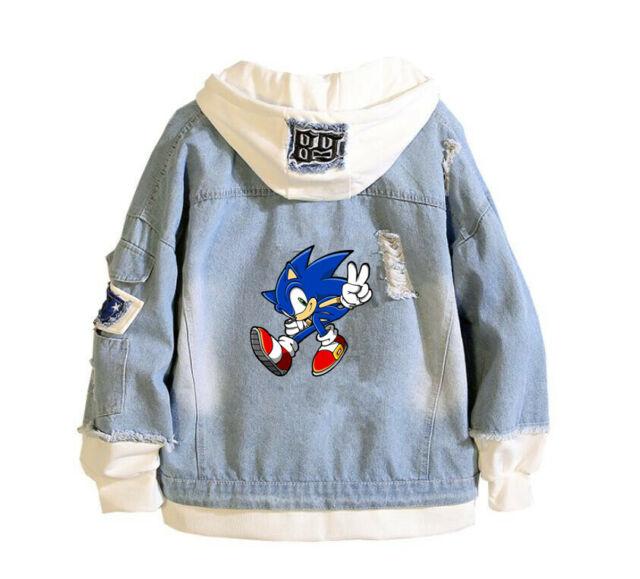 Sonic The Hedgehog Hoodie Jacket Boy S Size 6 7 Gray Hooded Sweatshirt For Sale Online Ebay
