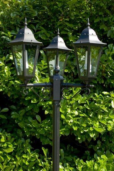 Candélabre Lanterne Lampe de jardin Lampadaire Lampe sur pied en aluminium 10356
