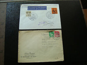 Allemgne-2-Envelopes-1951-1967-cy12-Germany