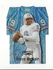 cheap for discount ea714 60dea Details about 1996 Pinnacle Die Cut Jerseys Holofoil #12 Steve McNair Oilers