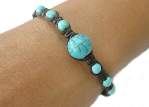 Handcrafted-Thai-Jewelry-Turquoise-BEAD-Fair-Trade-Buddhist-BRACELET-Wristband
