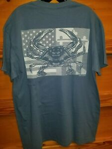 NEW US Flag Ripped Crab Men/'s American T-Shirt Maryland My Maryland