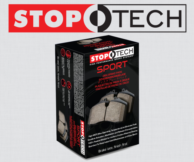 309.08880 FRONT SET Stoptech Sport Performance Disc Brake Pads High Friction