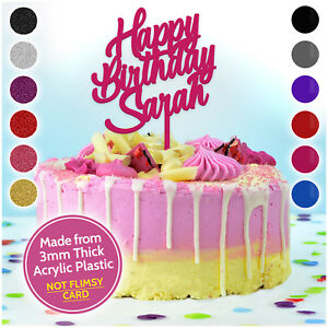 Image Is Loading PERSONALISED Birthday Cake Toppers Custom ANY NAME 13