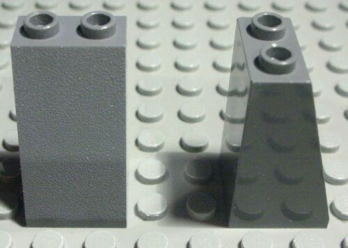 910 # Lego Stein schräg positiv 2x2x3 new Dunkelgrau 2 Stück
