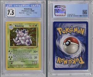 Pokémon Nidoking Holo 11/102 CGC 7.5 Near Mint+ 1999 Base Set Unlimited