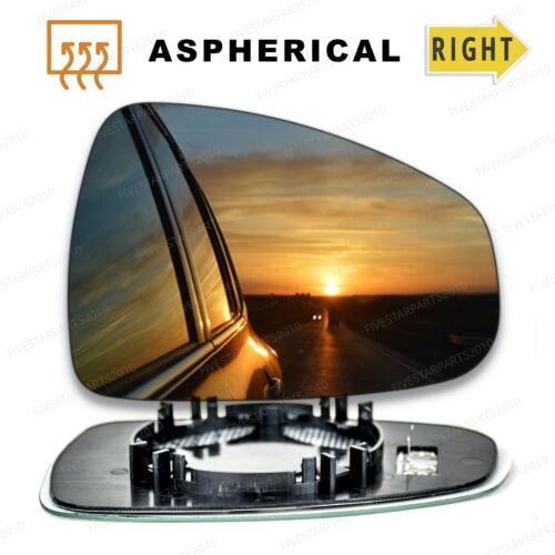 Right Driver side Wide Angle Wing mirror glass for Audi A1 2010-2018 Heated